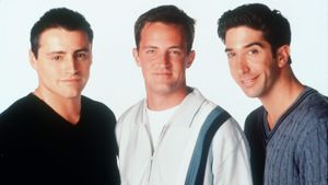 "Matt LeBlanc, Matthew Perry und David Schwimmer in ""Friends"""