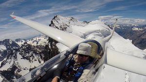 Matt Wright im Segelflugzeug