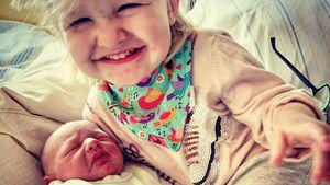 Wie niedlich! Melanie Müller teilt das erste Geschwister-Pic