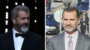 Zwillinge? Doppelgänger-Alarm bei Mel Gibson & König Felipe!