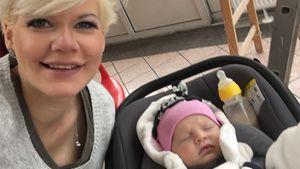 Sogar auf der Baustelle: Melli Müllers Baby ist immer dabei!