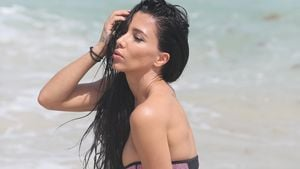 Metisha Schäfer am Strand von Miami
