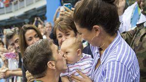 Michael Phelps: Hier kommt der Baby-Boomer-Sieger-Kuss