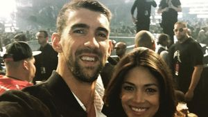 Michael Phelps mit seiner Verlobten Nicole Johnson bei den  MTV Video Music Awards 2016