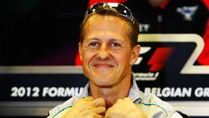 Michael Schumacher bei einer Pressekonferenz in Belgien 2012