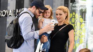 Michelle Hunziker mit Tomaso Trussardi und den Töchtern Celeste und Sole in Dubai