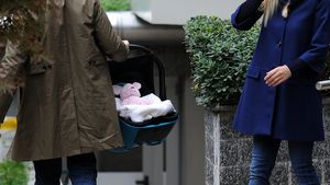 Lustiger Trick: Michelle Hunzikers Baby ist pink!