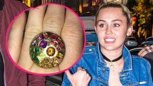 Sängerin Miley Cyrus und ihr neuer Verlobungsring