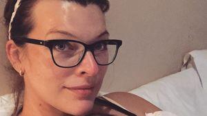 Milla Jovovich: 1. Kuschelfoto mit Baby-Girl Dashiel