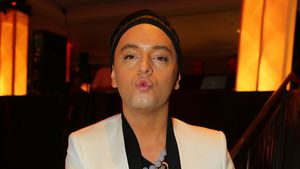 Modeschöpfer Julian F.M. Stoeckel bei der Rocky-Musical-Premiere 2015 in Stuttgart