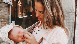 Geburt nachgestellt: So stellte Mona Stöckli Babybindung her
