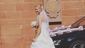 Nancy Nagel am Tag ihrer Hochzeit