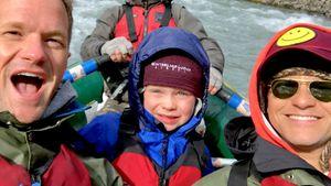 Fun? Neil Patrick Harris mit seinem Sohn (6) beim Rafting