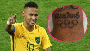 Sieg für die Ewigkeit: Neymar hat jetzt ein Olympia-Tattoo!