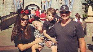Vanessa, Brooklyn, Camden und Nick Lachey (v.l.) im Disneyland