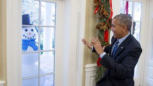 Präsidenten-Prank: Schneemänner schocken Barack Obama!