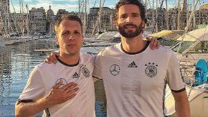 Oliver Pocher und Arne Friedrich bei der EM 2016 in Marseille