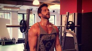 Oliver Sanne im Fitnessstudio