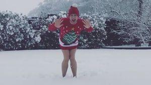 Hurra, es schneit! Da vergisst Olly Murs doch glatt die Hose