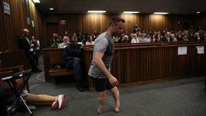 Oscar Pistorius ohne Prothesen