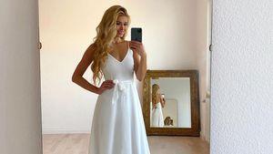 Weißes Kleid und Ring-Emoji: Pamela Reif irritiert ihre Fans