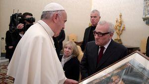 Papst Franziskus empfängt Martin Scorsese im Vatikan