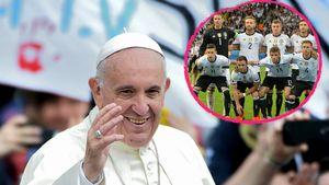 Papst Franziskus I. und die DFB-Jungs
