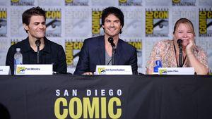 Paul Wesley, Ian Somerhalder und Julie Plec bei der Comic-Con 2016