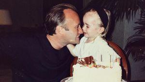 Phil Collins mit seiner Tochter Lily Collins