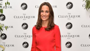 Megastylish im Monochrom-Look: Pippa Middleton ganz in Rot