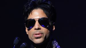 Prince bei einer Pressekonferenz im Apollo Theater in New York City