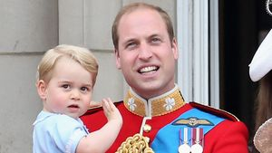 "Prinz George mit Papa Prinz William bei der ""Trooping The Colour""-Parade 2015"