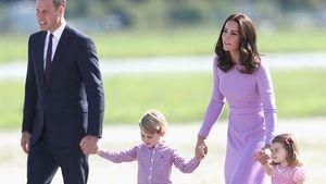 Prinz William und Herzogin Kate mit ihren Kids George und Charlotte in Hamburg
