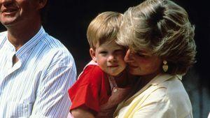 Prinzessin Diana mit Harry auf dem Arm