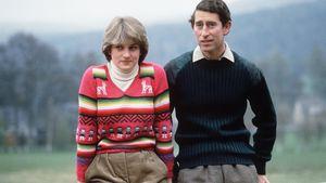Prinzessin Diana und Prinz Charles nach der Bekanntgabe ihrer Verlobung