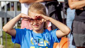 Kleine Sportskanone: Estelle von Schweden beim Spiele-Spaß