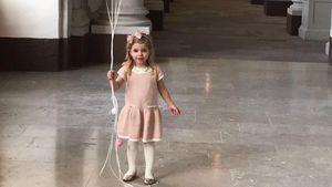 Prinzessin Leonore von Schweden an ihrem dritten Geburtstag
