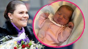 Prinzessin Victorias Namenstag: Baby Adrienne stahl die Show