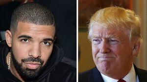 Rapper Drake und Donald Trump