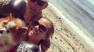 Rebecca Kratz mit ihrem Personal Trainer, Marbella