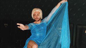 """Im Kleid: Riccardo Simonetti geht als """"Frozen""""-Elsa ins Kino"""