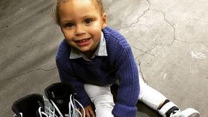 Süße Internetsensation! 2-Jährige stiehlt NBA-Star die Show