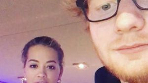 Rita Ora und Ed Sheeran im Studio