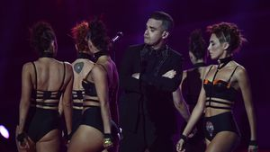 Robbie Williams bei den BRIT Awards 2017