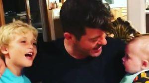 Mit Sohn & Baby: Robin Thicke erinnert an Aretha Franklin