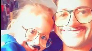 Rocco Stark mit seiner Tochter Amelia auf Snapchat