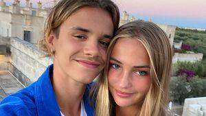 Romeo Beckham teilt ein neues Pärchenbild mit Freundin Mia!