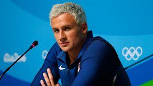 Ryan Lochte bei einer Olympia-Pressekonferenz