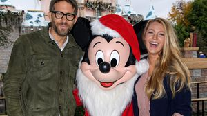 Ryan Reynolds, Mickey Mouse und Blake Lively im Disneyland in Anaheim