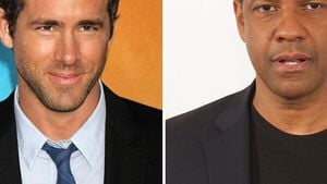 Ryan Reynolds haut Denzel Washington blaues Auge